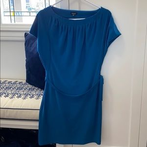Blue casual cocktail dress